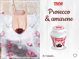 Toschi Black Italian Amarena Cherries in Syrup, 17.9 oz (510 g)