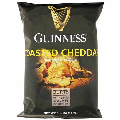 Burt's Guinness Toasted Cheddar Potato Chips 5.3 oz. (150g)