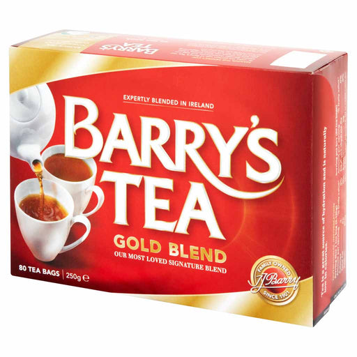 Barry's Tea Gold Blend Tea Bags 80 bags. 8.8oz. (250g)