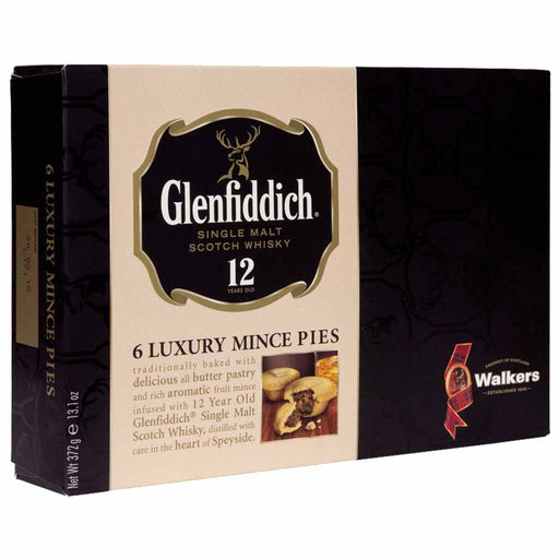 Walker's Luxury Mince Pies with Glenfiddich Whiskey 13.1 oz. (372g)
