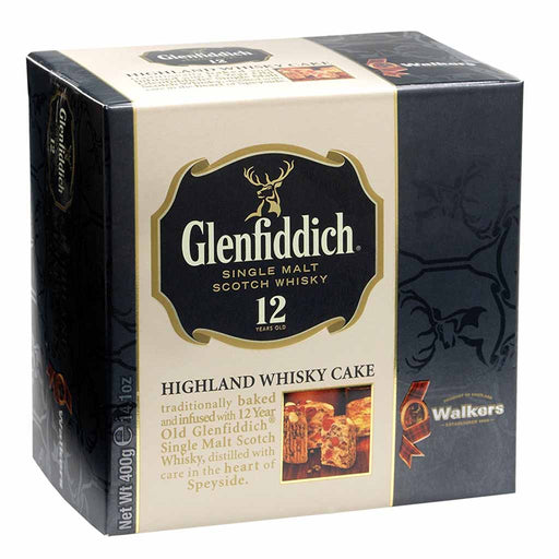Walker's Highland Fruit Cake with Glenfiddich Whiskey 14.1 oz. (400g)