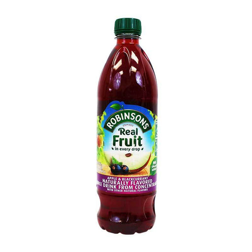 Robinsons Apple & Blackcurrant Juice Concentrate, No Sugar Added, 33. 8 fl. Oz. (1 L)