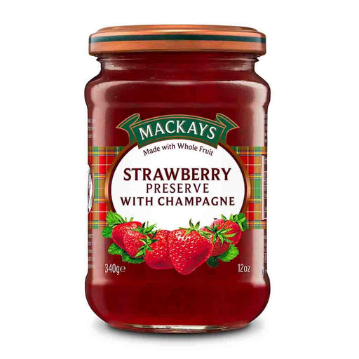 Mackays Strawberry Preserve with Champagne, 12 oz (340 g)