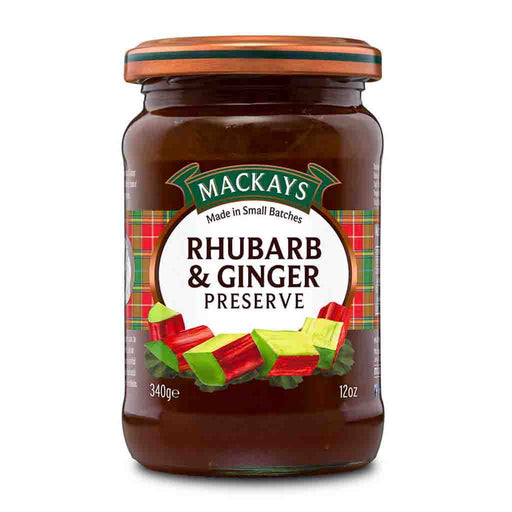 Mackays Rhubarb and Ginger Preserve, 12 oz (340 g)