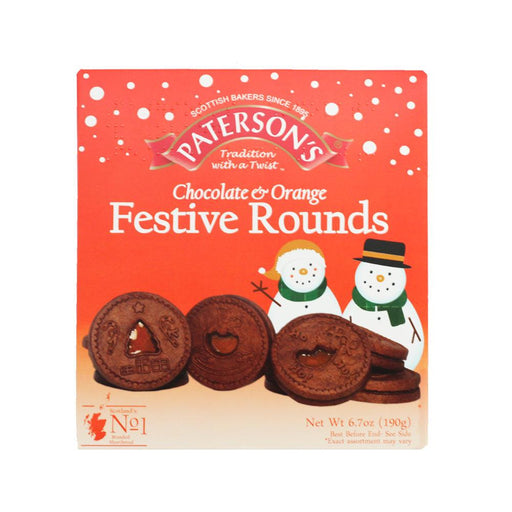 Paterson's Chocolate Biscuits with Orange Jelly, Festive Shapes, 6.6 oz (187 g)
