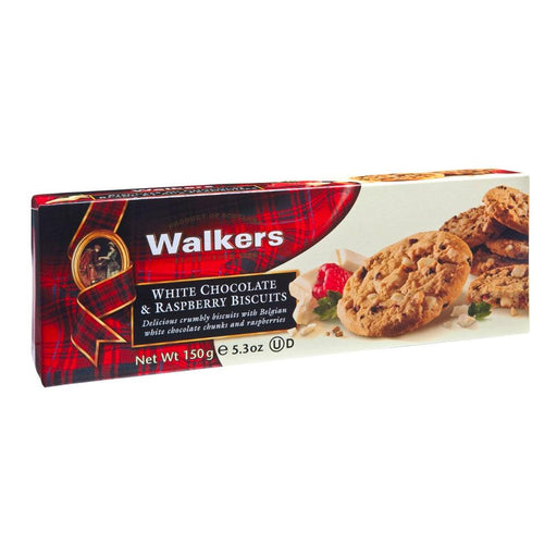 Walkers White Chocolate and Raspberry Biscuits, 5.3 oz (150 g)