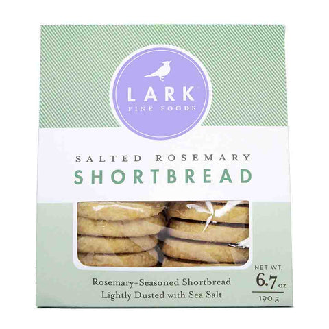 Salted Rosemary Shortbread by Lark Fine Foods 6.7 oz