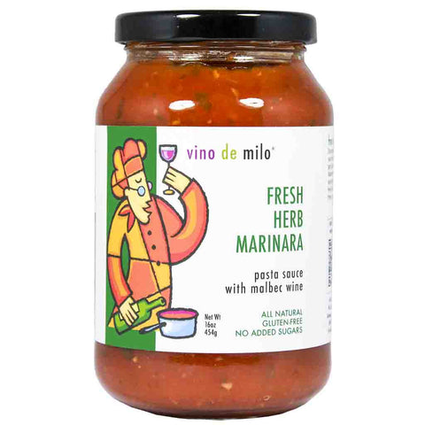 Fresh Herb Marinara Pasta Sauce by Vino de Milo 16 oz