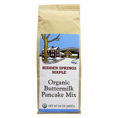 Organic Buttermilk Pancake Mix by Hidden Springs Maple 24 oz