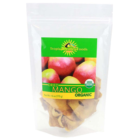 Organic Dried Mango by Tropical Valley Foods 6 oz