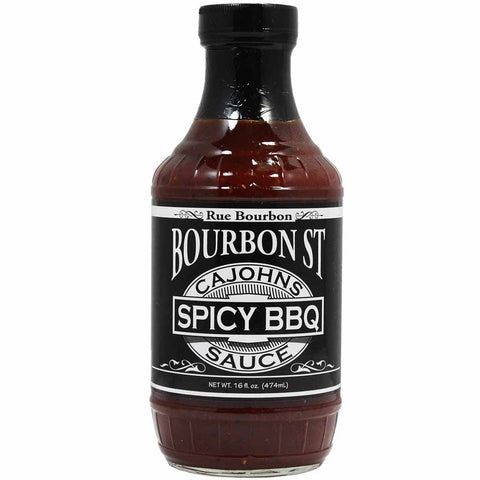 Bourbon Street Spicy BBQ Sauce by CaJohns 16 oz