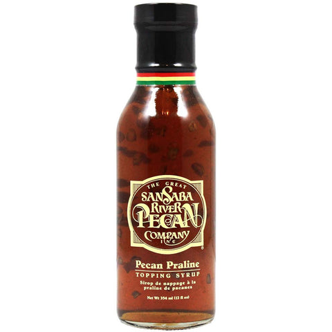 Pecan Praline Topping Syrup by The Great San Saba River Pecan Co. 12 oz