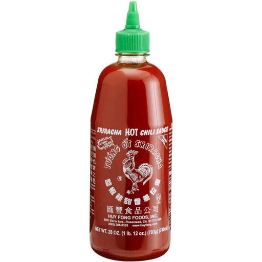 Sriracha Hot Chili Sauce by Huy Fong Foods 28 oz