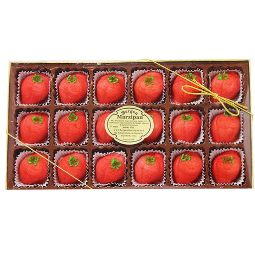 Bergen Marzipan Strawberry Shaped Marzipan 8 oz. (18 Pcs)