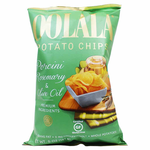 Oolala Porcini, Rosemary & Olive Oil Potato Chips by Natural Nectar, 5 oz. (141g)