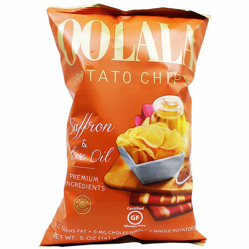 Natural Nectar Oolala Saffron & Olive Oil Potato Chips 5 oz. (141g)