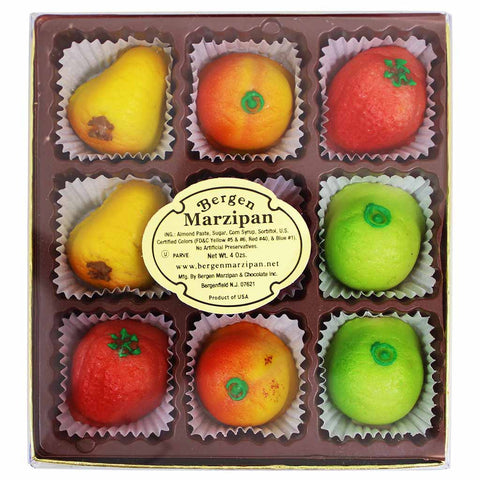 Bergen Marzipan Fruit Shaped Marzipan 4 oz. (113g)