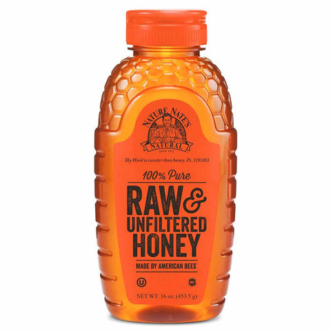 Nature Nate's Raw & Unfiltered Honey 16 oz. (453g)
