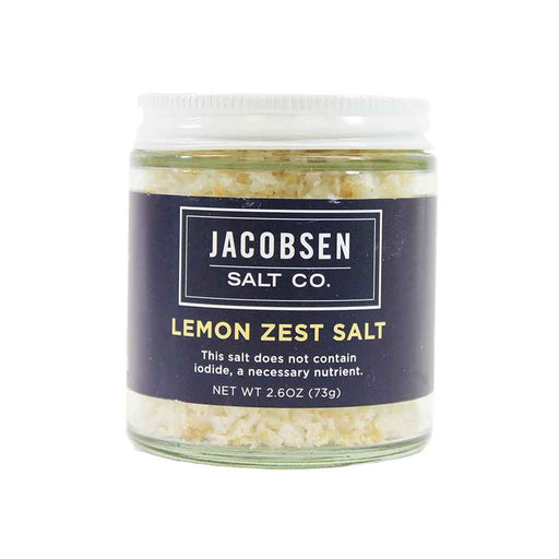 Jacobsen Salt Co Lemon Zest Infused Sea Salt, 2.6 oz.