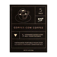 Copper Cow Coffee - Pour Over Vietnamese Coffee Kit, 9 oz.