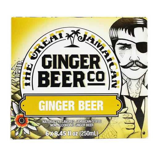 The Great Jamaican Ginger Beer Co – Ginger Beer, 6 x 8.45 fl oz (250 ml)