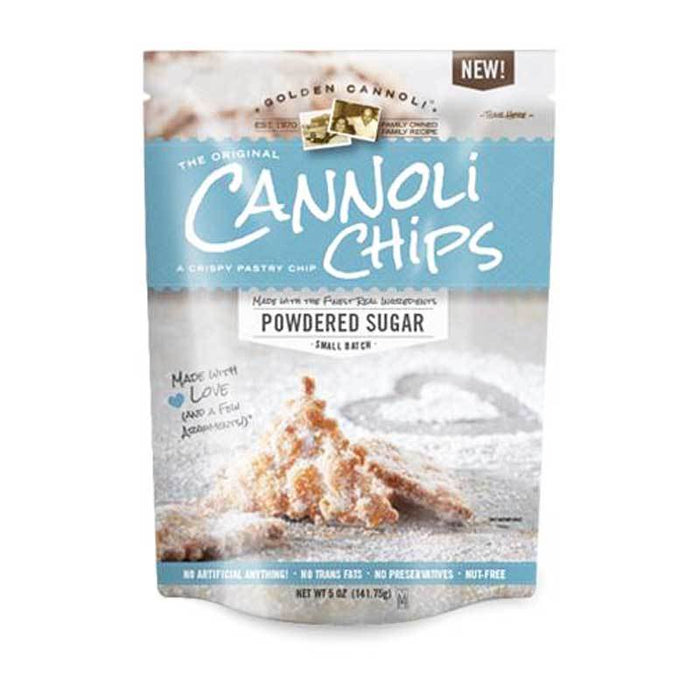 Golden Cannoli Powdered Sugar Cannoli Chips, 5.1 oz (144.53 g)