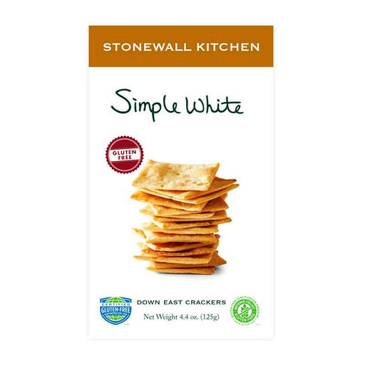 Stonewall Kitchen Gluten-Free Simple White Crackers, 4.4 oz (125 g)