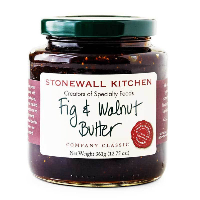 Stonewall Kitchen Fig and Walnut Butter, 12.75 oz (361 g)