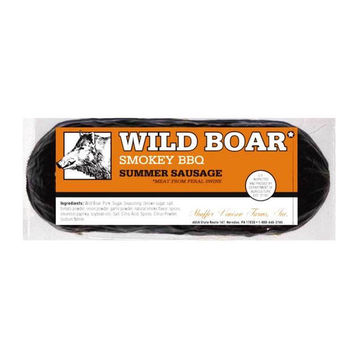 Wild Boar BBQ Summer Sausage from Shaffer Farms, 6 oz (170 g)