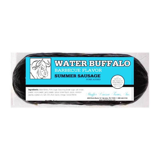 BBQ Water Buffalo Summer Sausage from Shaffer Farms, 6 oz (170g)