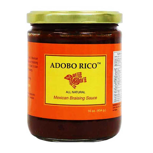 Adobo Rico Mexican Braising Sauce by Chile Crunch, 16 oz (454g)