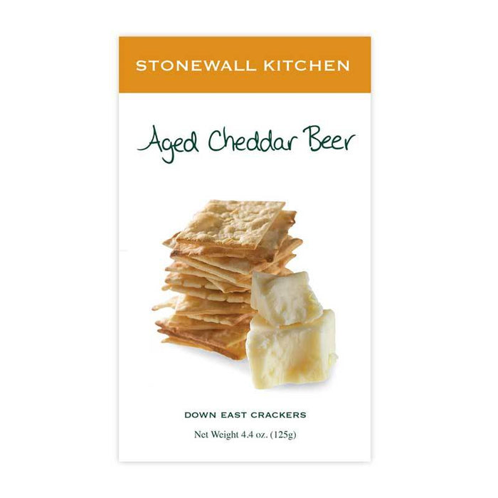 Stonewall Kitchen Aged Cheddar Beer Crackers, 4.4 oz (125g)