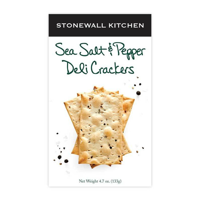 Stonewall Kitchen Sea Salt & Pepper Deli Crackers, 4.7 oz (133g)