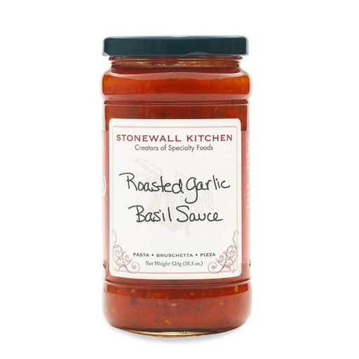 Stonewall Kitchen Roasted Garlic Basil Sauce, 18.5 oz (524g)