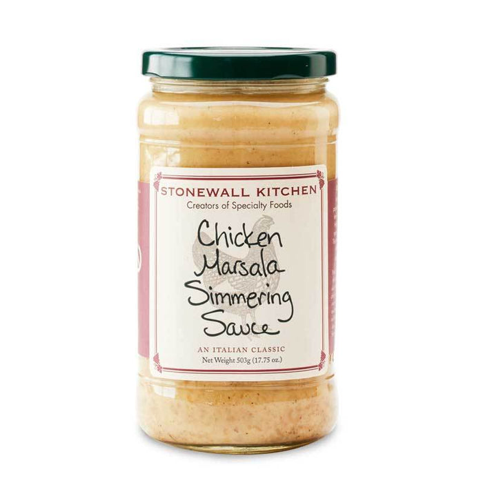 Stonewall Kitchen Chicken Marsala Simmering Sauce, 17.75 oz (503g)
