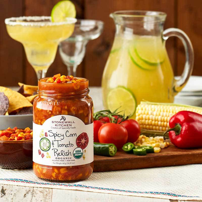 Stonewall Kitchen Spicy Corn & Tomato Relish, 16.25 oz (461g)