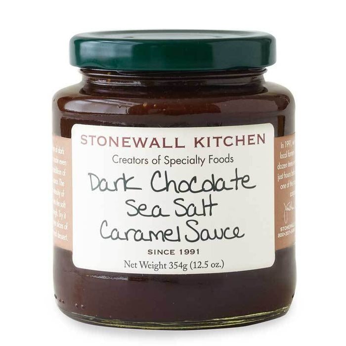 Stonewall Kitchen Dark Chocolate Sea Salt Caramel Sauce, 12.5 oz (354g)