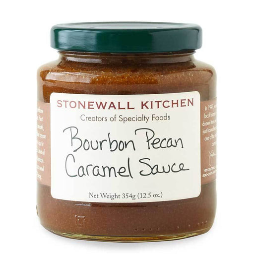 Stonewall Kitchen Bourbon Pecan Caramel Sauce, 12.5 oz (354g)