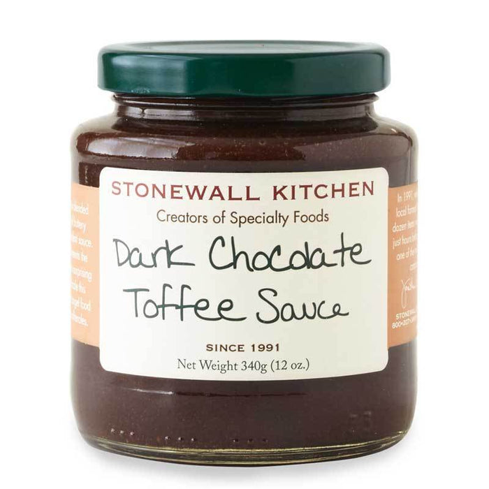 Stonewall Kitchen Dark Chocolate Toffee Sauce, 12 oz (340g)