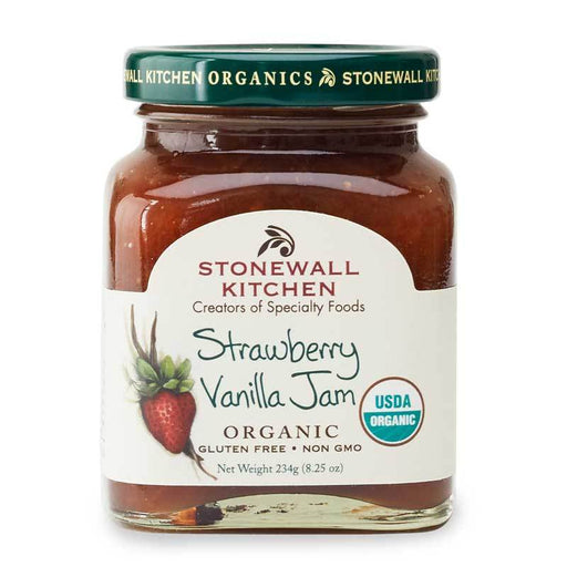 Stonewall Kitchen Organic Strawberry Vanilla Jam, 8.25 oz (234g)