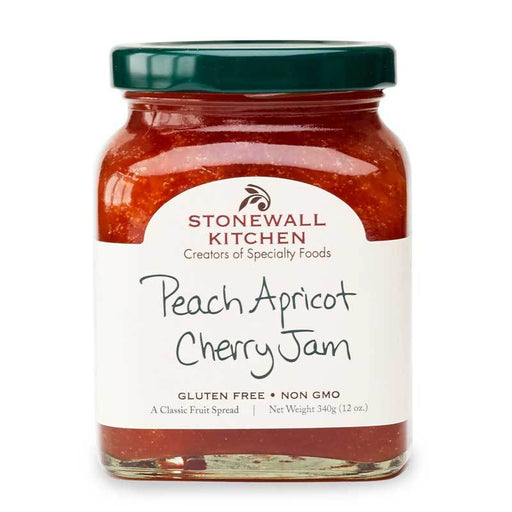Stonewall Kitchen Peach Apricot Cherry Jam, 12 oz (340g)