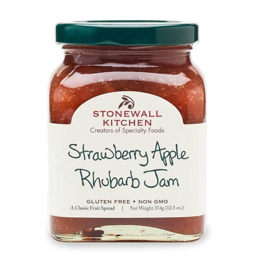 Stonewall Kitchen Strawberry Apple Rhubarb Jam, 12.5 oz (354g)