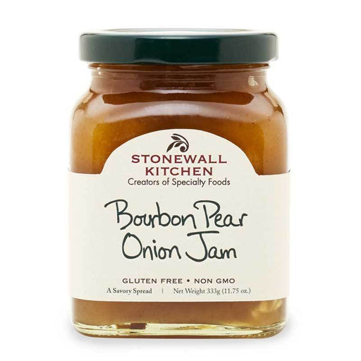 Stonewall Kitchen Bourbon Pear Onion Jam, 11.75 oz (333g)