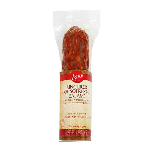 Hot Sopressata Salame by the Licini Brothers, 7 oz (200g)
