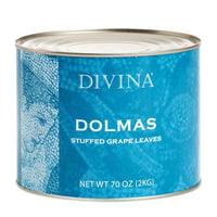Stuffed Grape Leaves Dolmas 66 Pieces by Divina, 4.4 lbs (2 kg)