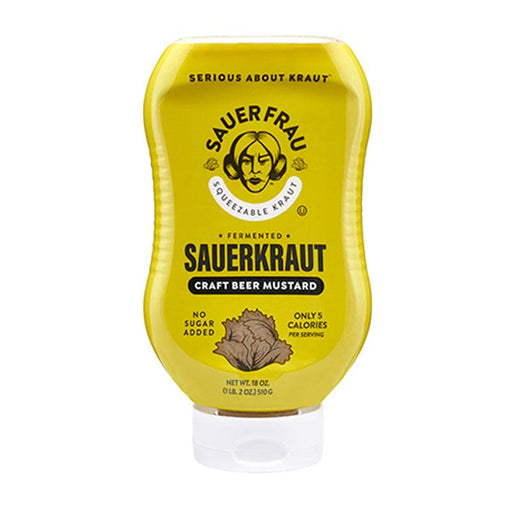 Sauer Frau Craft Beer Mustard Sauerkraut, Squeezable 18 oz. (510 g)