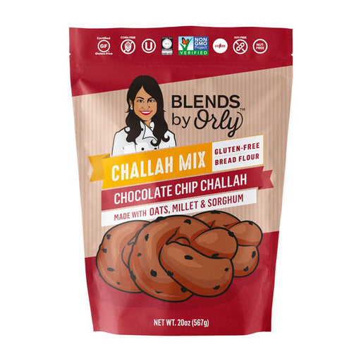 Orly's Gluten Free Chocolate Chip Challah Mix, 20 oz. (567g)