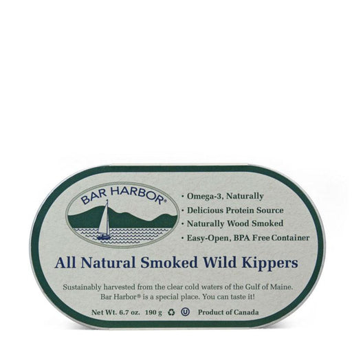 Bar Harbor Smoked Wild Kippers, Wood Smoked, 6.7 oz (190g)
