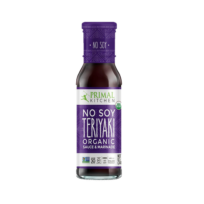 Primal Kitchen Organic No Soy Teriyaki Sauce, 8.5 fl oz (241 ml)