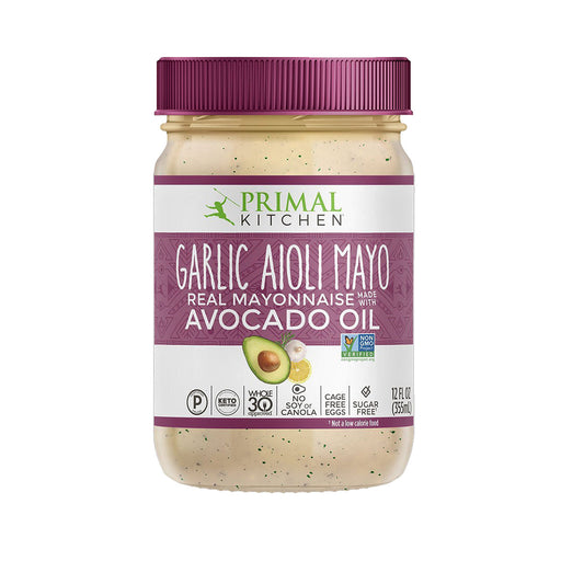 Primal Kitchen Garlic Aioli Mayo with Avocado Oil, 12 fl oz (355 ml)
